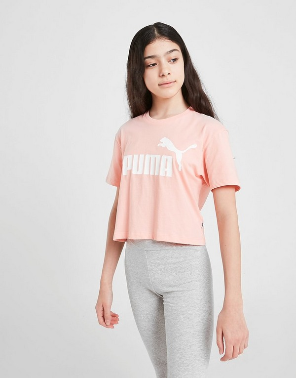 PUMA Girls' Core Crop T-Shirt Junior