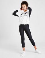 Under Armour Girls' Rival Logo Crew Sweatshirt Junior