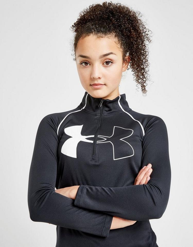 Under Armour Girls' Tech Logo 1/2 Zip Top Junior