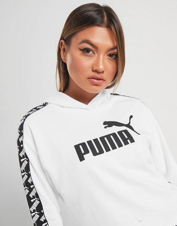 Koop Wit PUMA Amplified Crop Overhead Hoodie Dames | JD Sports