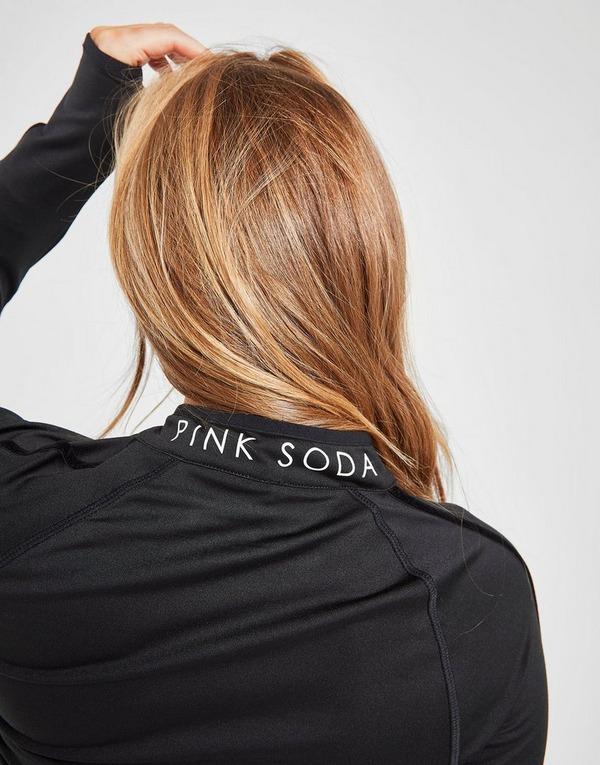 Pink Soda Sport Velvet Tape 1/4 Zip Top