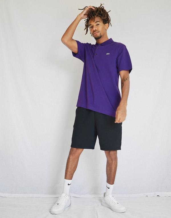 Camisa Polo Lacoste Logo Roxa