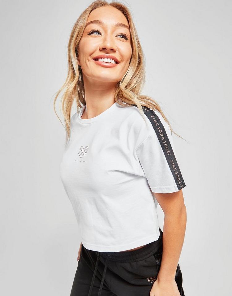 Pink Soda Sport Lurex Tape Crop T-Shirt