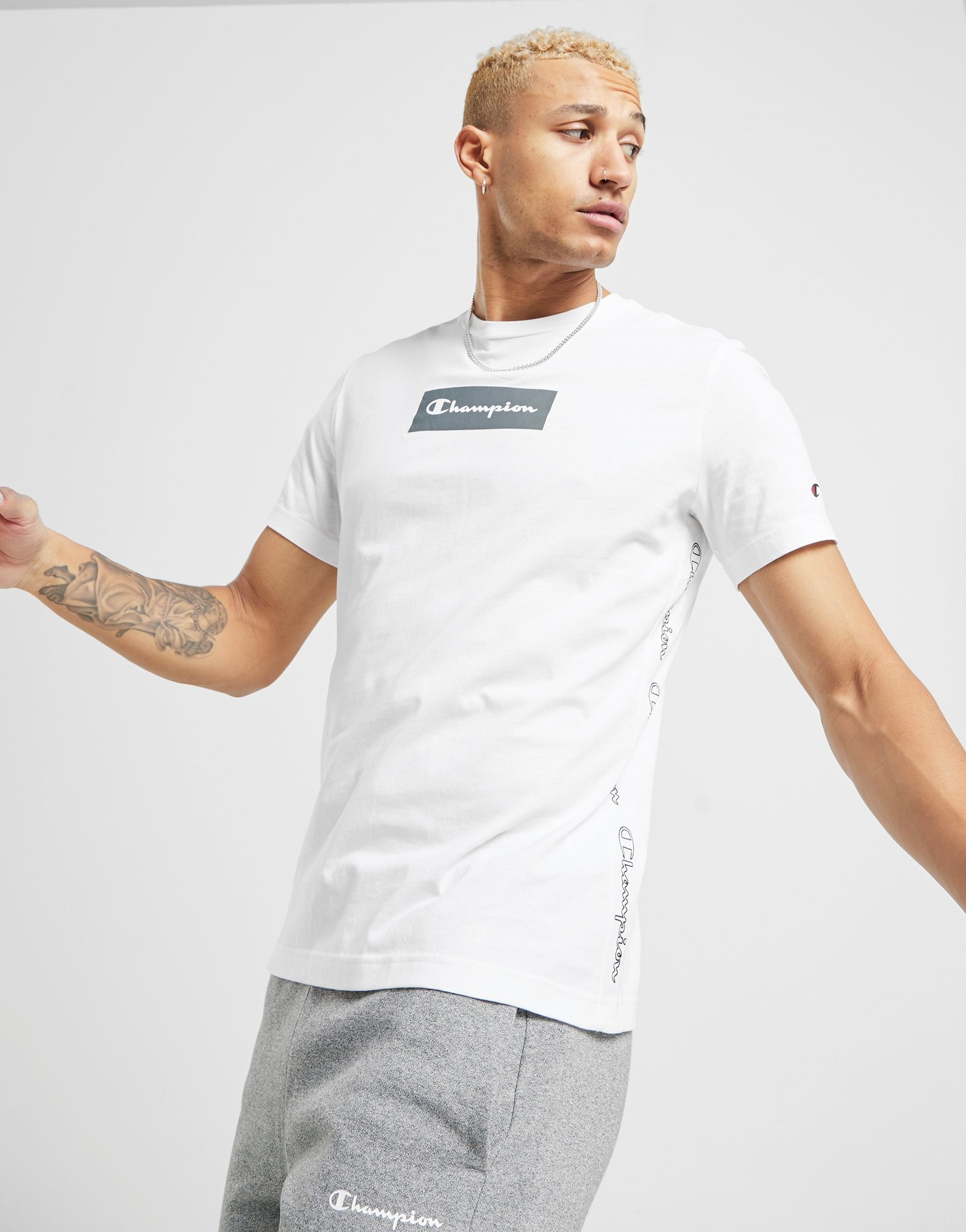 Champion Tape T Shirt Herre | JD Sports
