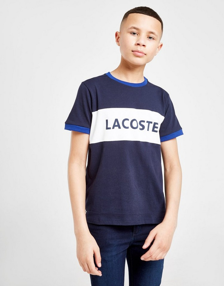 Lacoste Colour Block Linear T-Shirt Junior