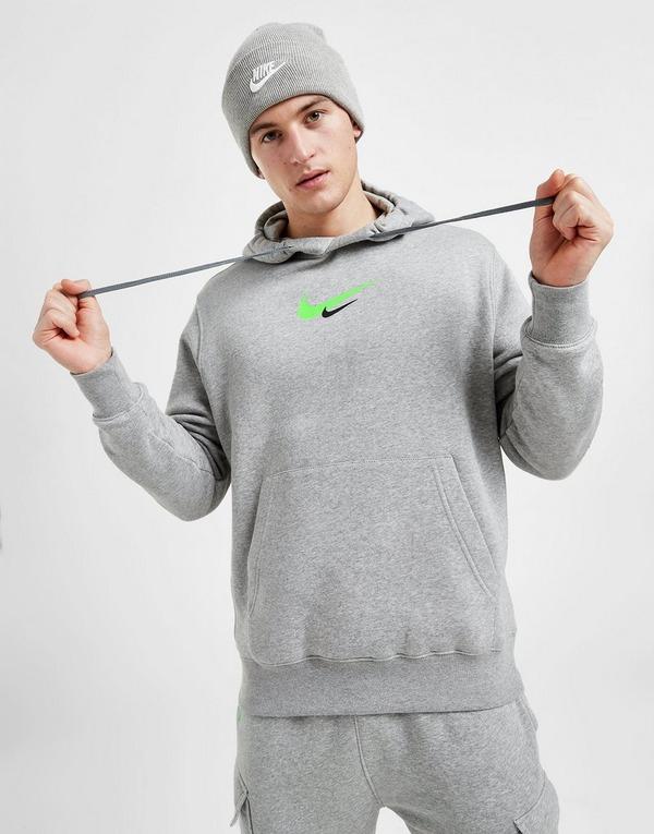 nike swoosh hoodie grey