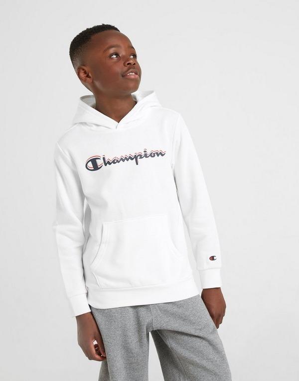 det billigaste gratis frakt någonsin populär Shoppa Champion Fleece Hoodie Junior i en Vit färg   JD Sports Sverige