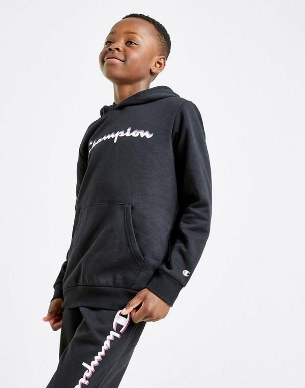 Acherter Noir Champion Sweat à capuche Fleece Enfant | JD Sports