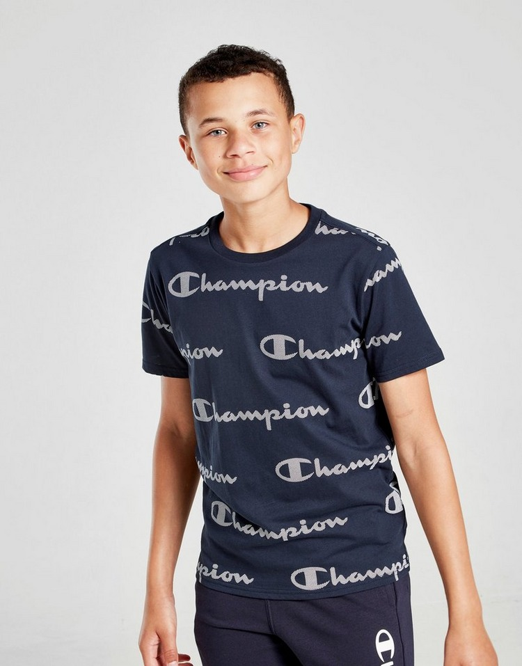 Champion All Over Print Logo T-Shirt Junior