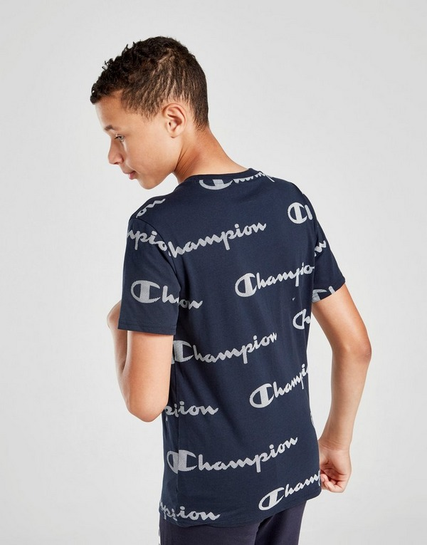 Champion All Over Print Logo T-Shirt Junior