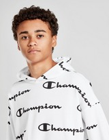 Champion All Over Print French Terry Oversize Hoodie Junior