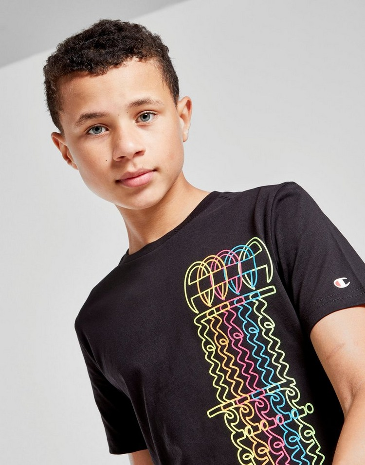 Champion Repeat Print T-Shirt Junior
