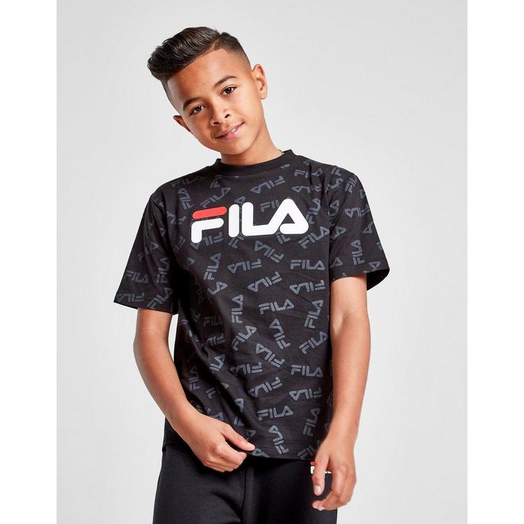 Acheter Noir Fila T shirt Lee All Over Print Junior   JD Sports