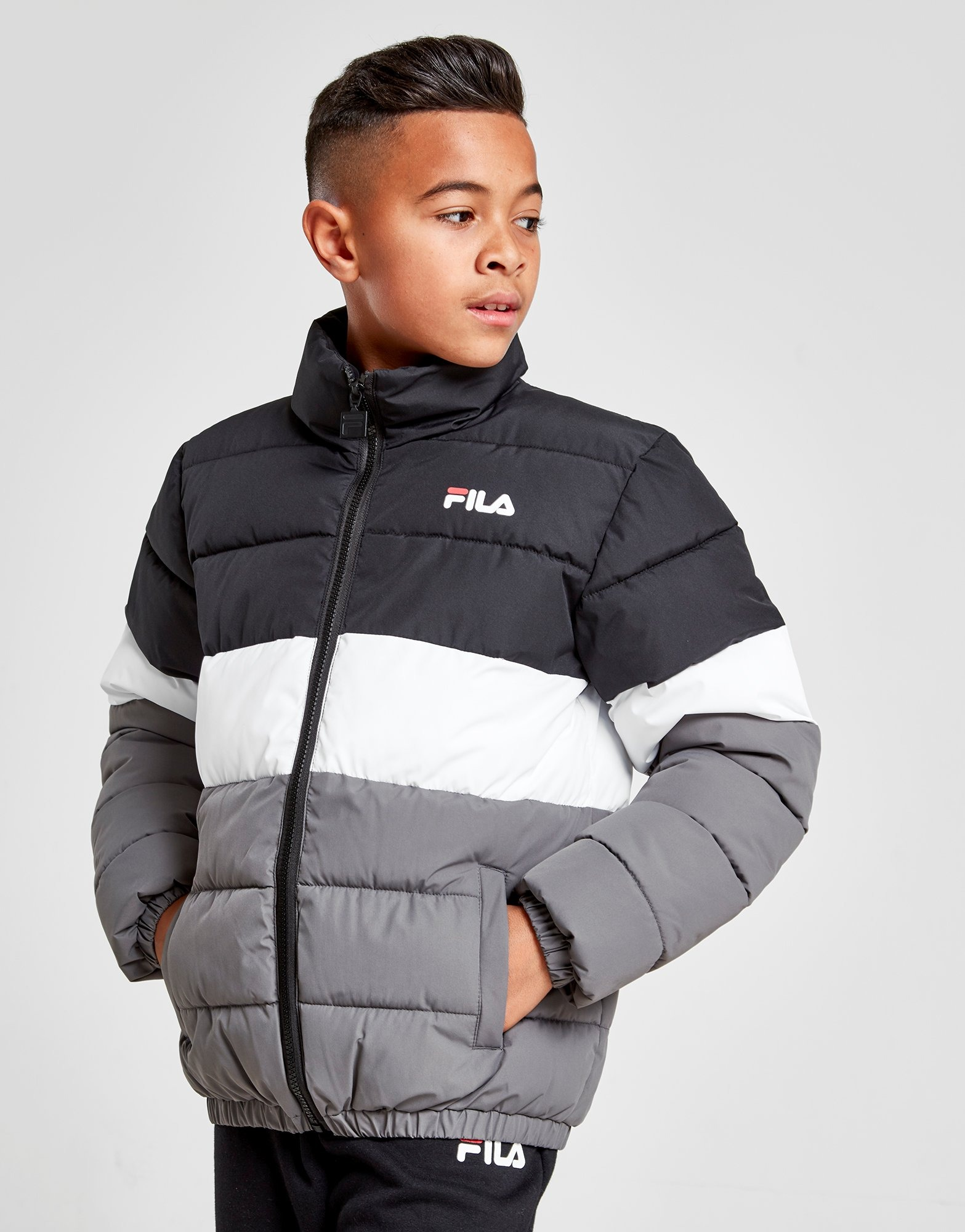 Fila Orion Colour Block Padded Giacca Junior | JD Sports