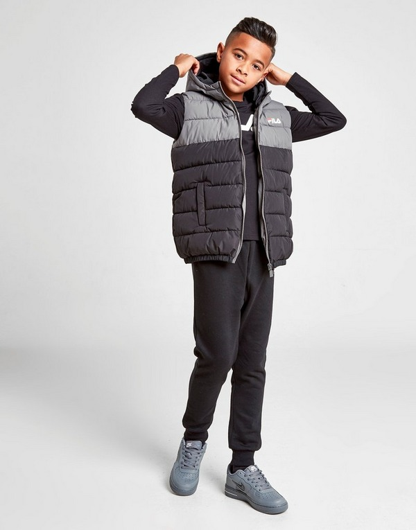 Fila Maro Colour Block Padded Gilet Junior