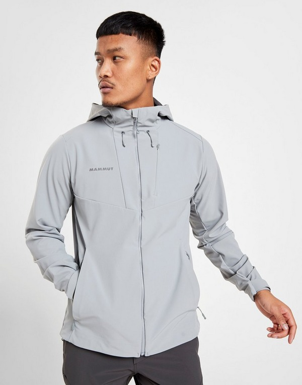 YUNY Men Hooded Classic Fit Softshell Tracksuit Top with Pockets Grey L
