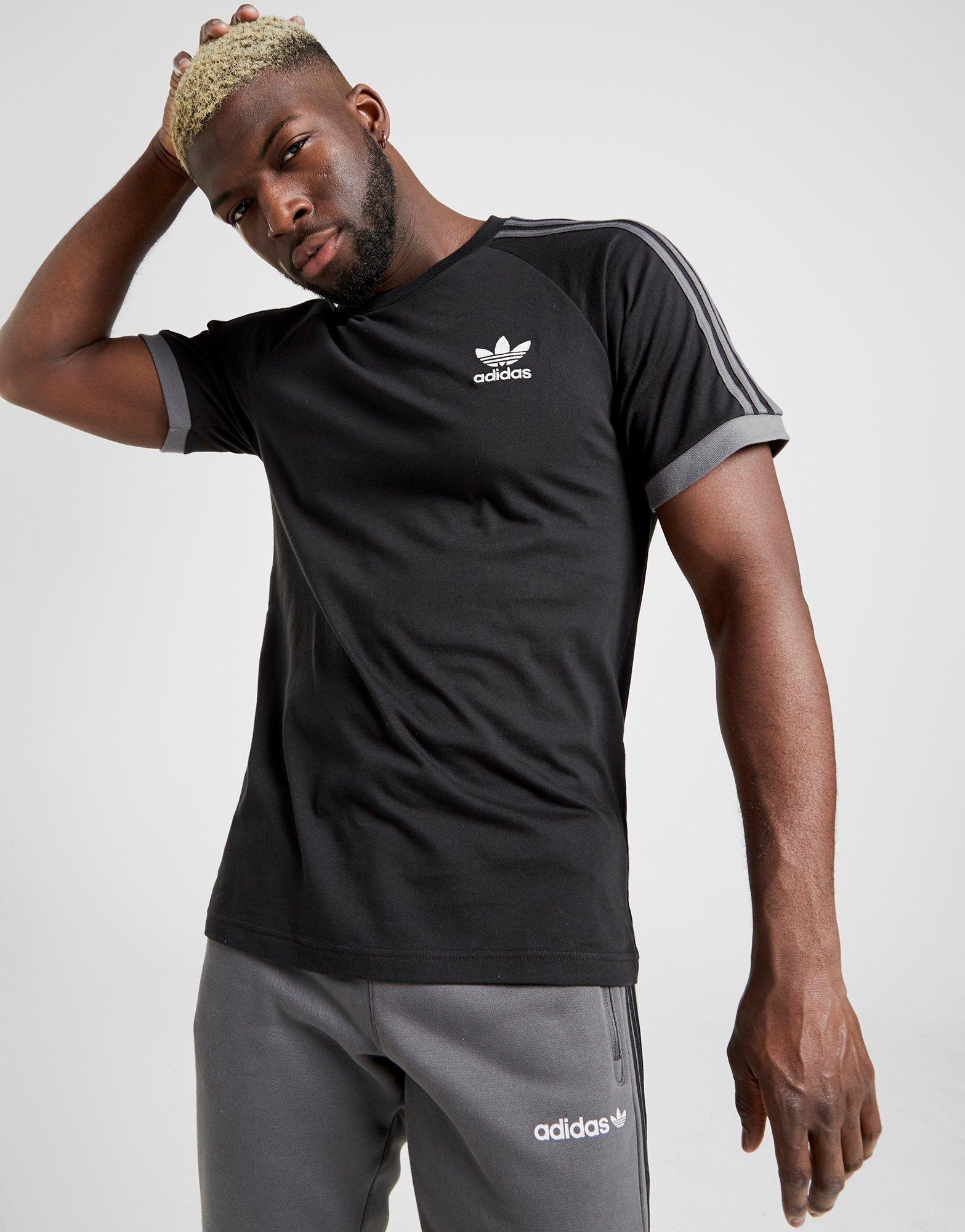 adidas Run 3 Stripes T shirt Kortærmet trøje Dame Rød | Køb