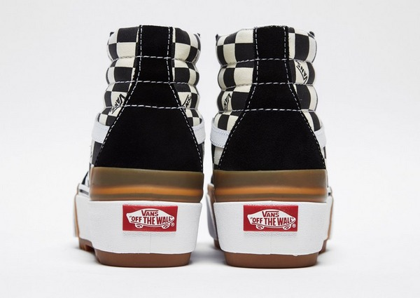 Checkerboard Sk8 Hi Stacked Shoes