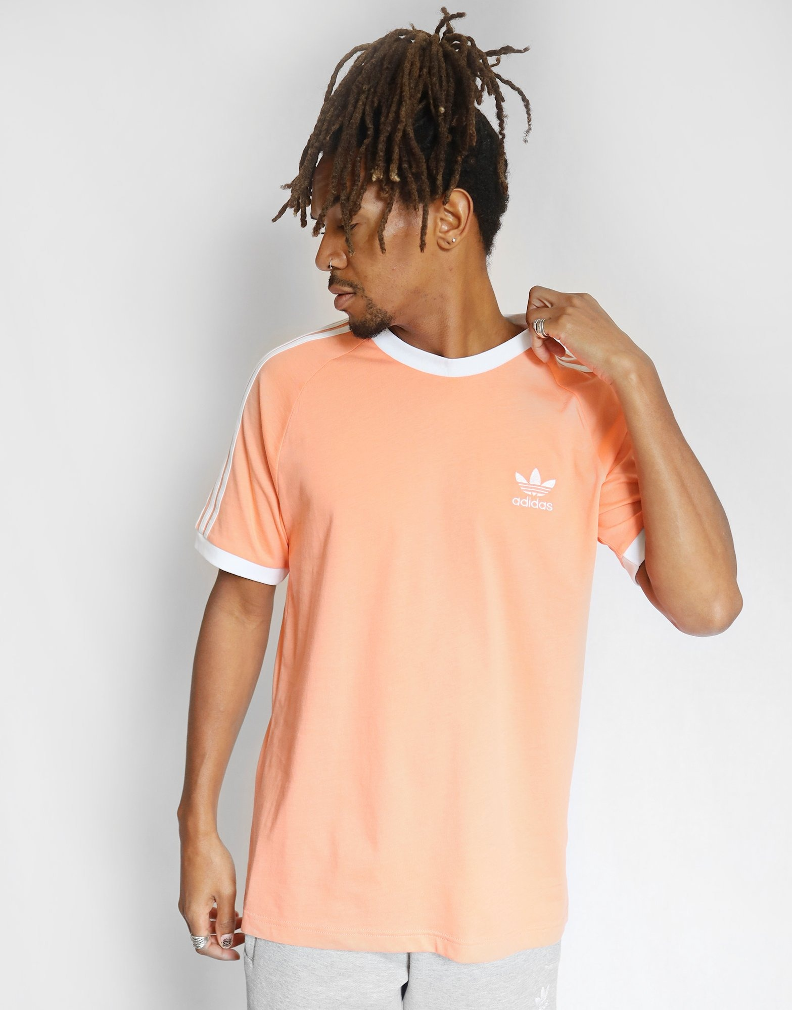 adidas Originals T Shirt Manches Courtes 3 Stripes California Homme | JD Sports