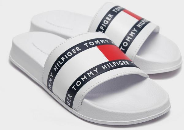 Tommy Hilfiger Flag Print Slides Junior