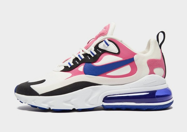 air max 270 react rose et bleu