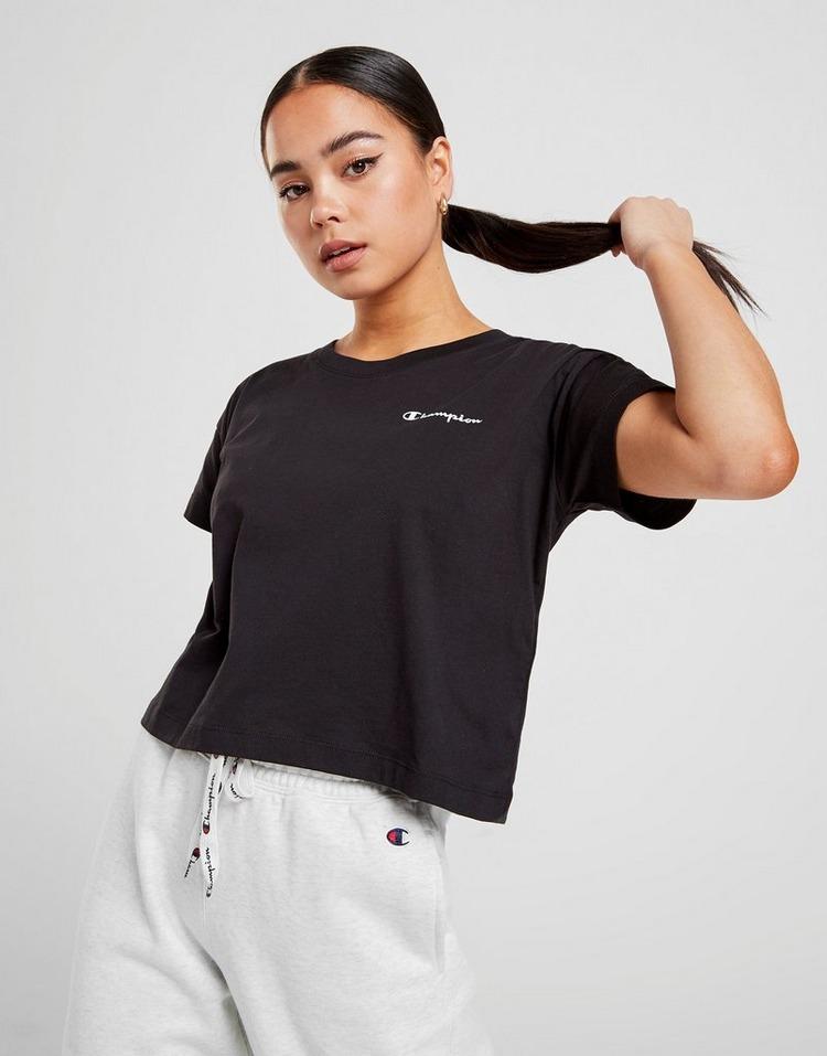 Champion Small Script Logo Crop T-Shirt