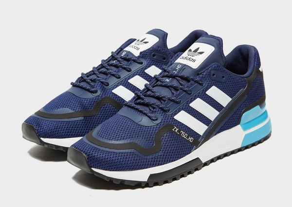 adidas originals heren zx 750 sneakers blauw