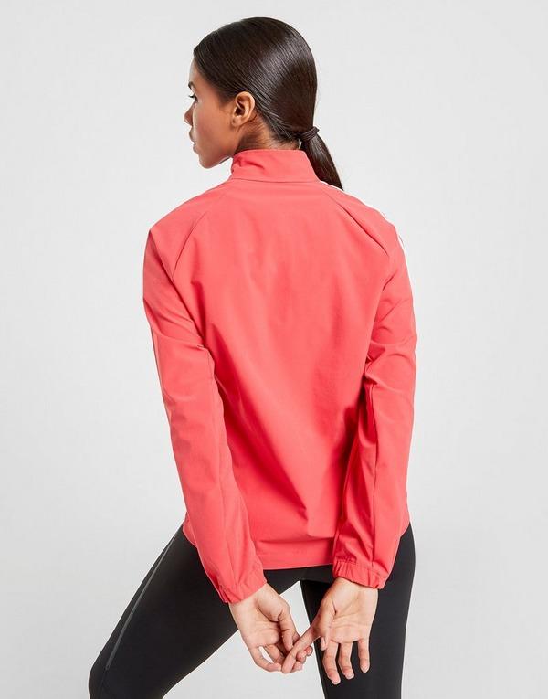 Acherter Rouge adidas Veste 3 Stripes Woven 14 Zippé Femme