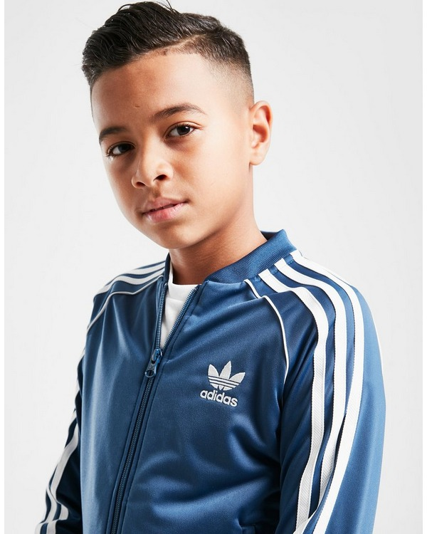 adidas superstar junior alle blå for billig