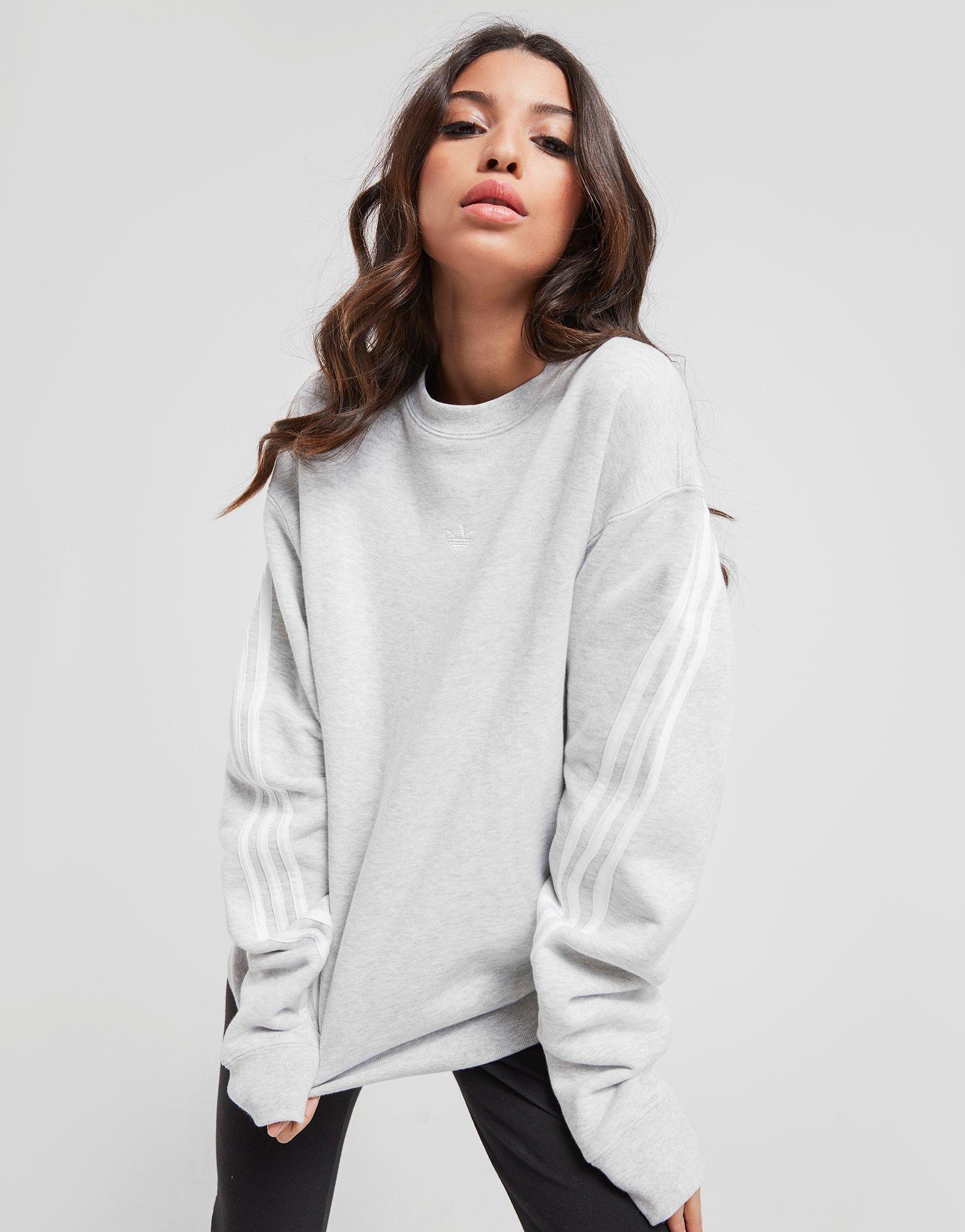 adidas Originals Sweat shirt 3 Stripe Wrap Crew Femme | JD Sports