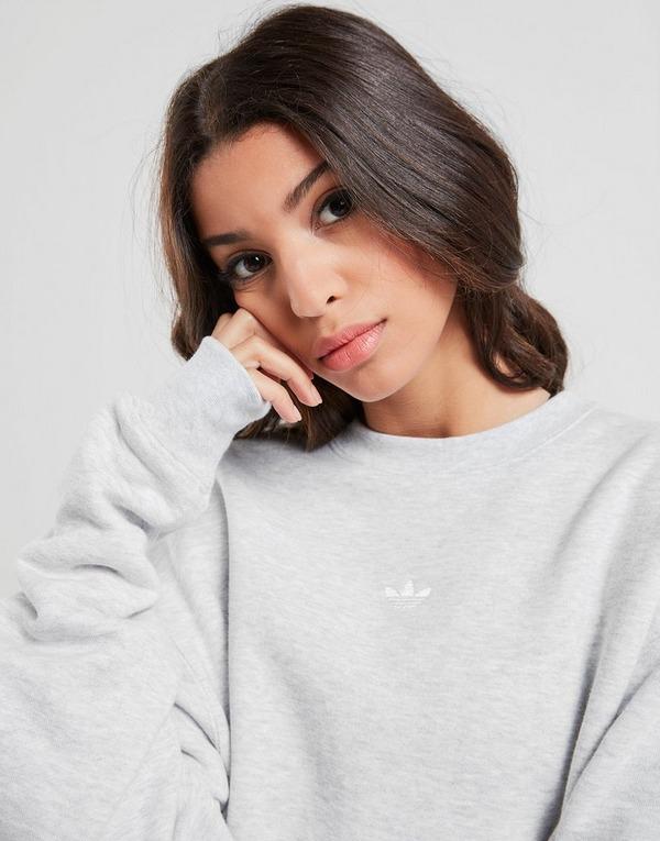 Koop Grijs adidas Originals 3 Stripe Wrap Crew Sweatshirt