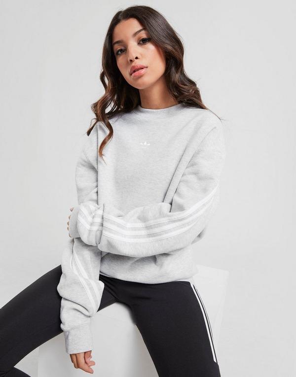 adidas Originals Sweat shirt 3 Stripe Wrap Crew Femme | JD