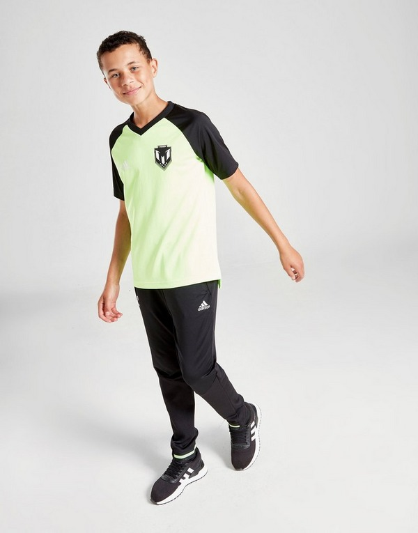Shop den adidas Messi Icon T Shirt Kinder in Grün | JD Sports