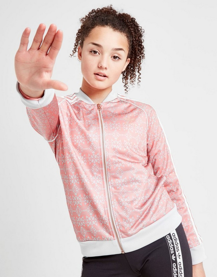 adidas Originals Girls' Geometric Superstar Track Top Junior