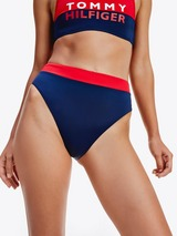 Tommy Hilfiger Colour Block High Waist Bikini Bottoms