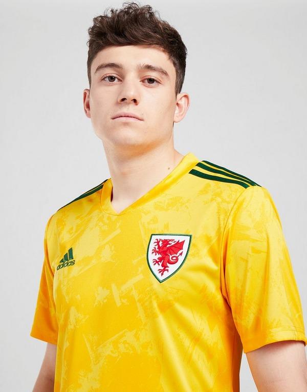 adidas Wales 2020 Away Maglia da calcio in Giallo | JD Sports