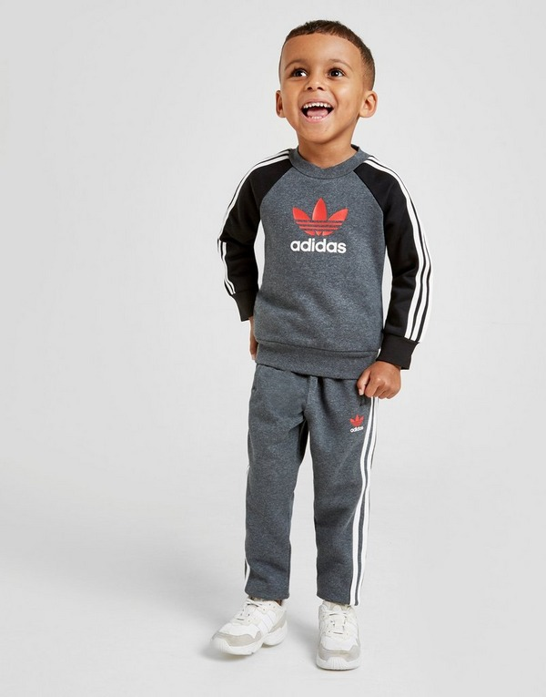 adidas 3 Stripe HD Poly Tracksuit Infant Boys