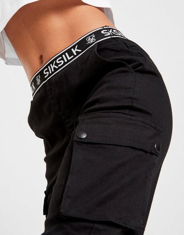 SikSilk pantalón de chándal Tape Waist Cargo