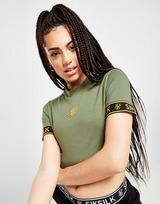 SikSilk Tape Sleeve Crop T-Shirt