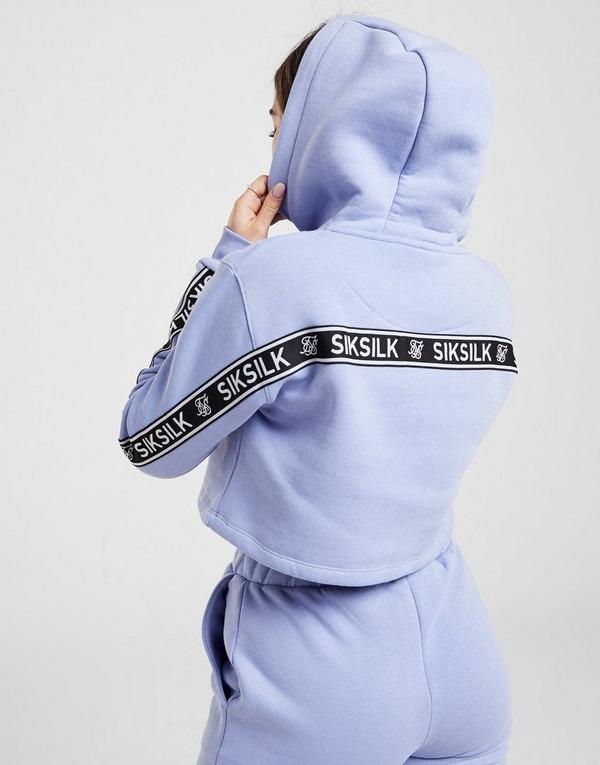 SikSilk sudadera con capucha Crop Tape Back