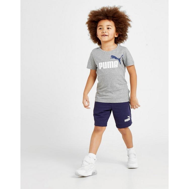 PUMA conjunto camiseta y pantalón corto Essential Logo infantil