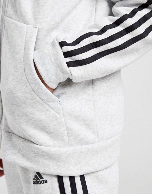 adidas Badge of Sport Fleece Full Zip Hoodie Junior