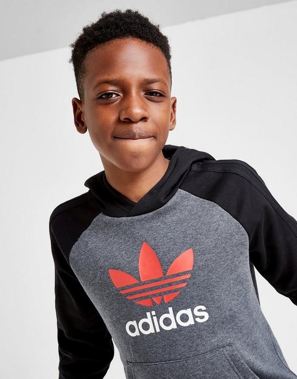adidas Originals Adicolour Colour Block Overhead Hoodie Junior