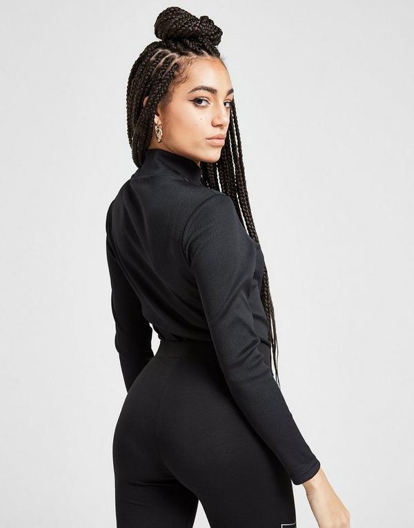 Supply & Demand Ribbed Long Sleeve Bodysuit