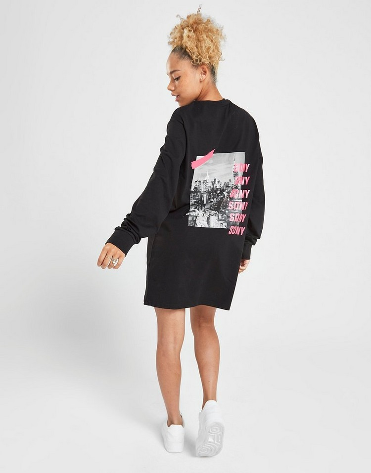 Supply & Demand Graphic Long Sleeve T-Shirt Dress