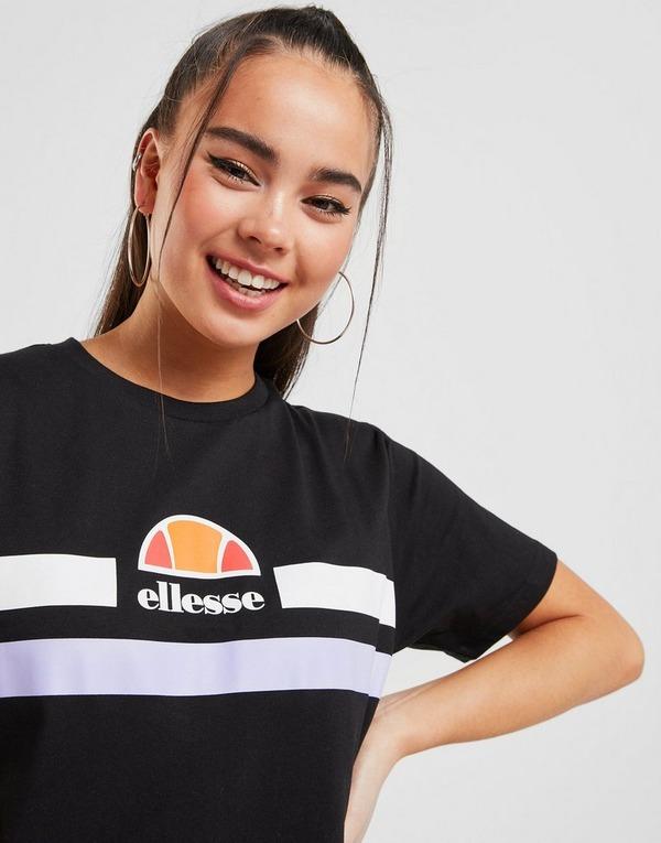 Ellesse Stripe Logo Boyfriend T-Shirt