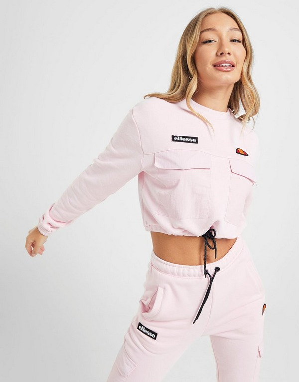 Ellesse Pocket Crop Crew Sweatshirt