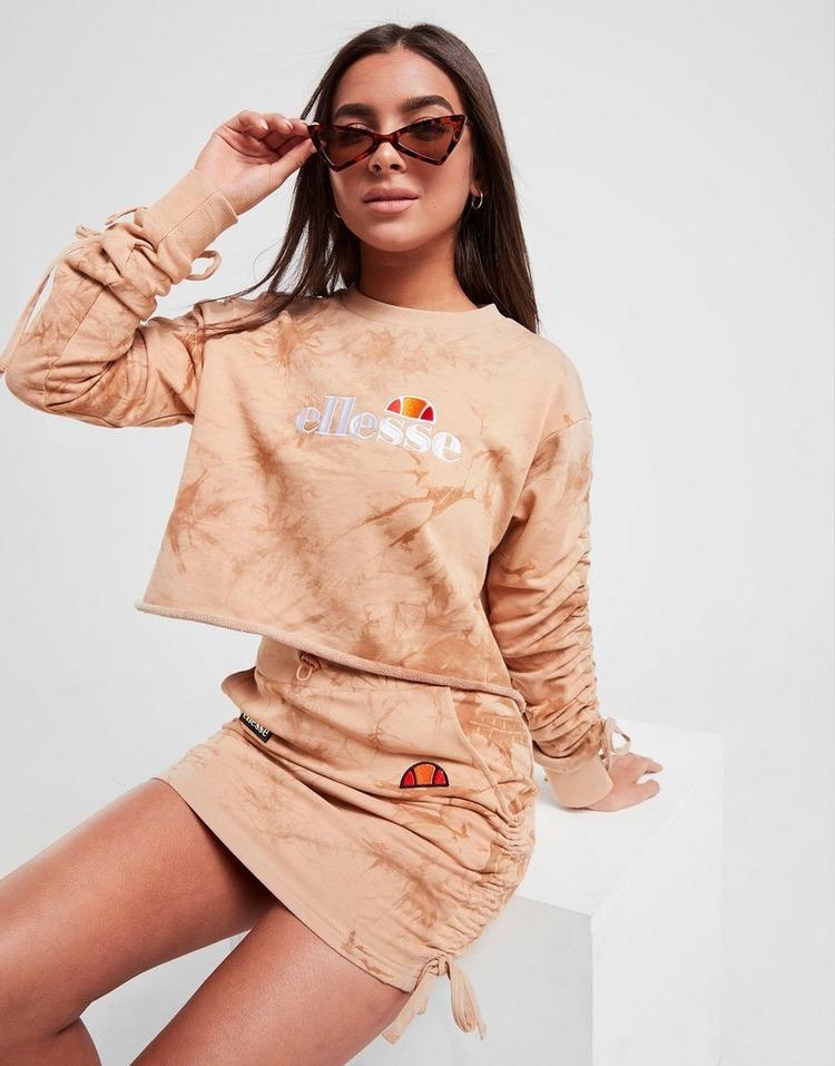 Ellesse Crop All Over Print Crew Sweatshirt
