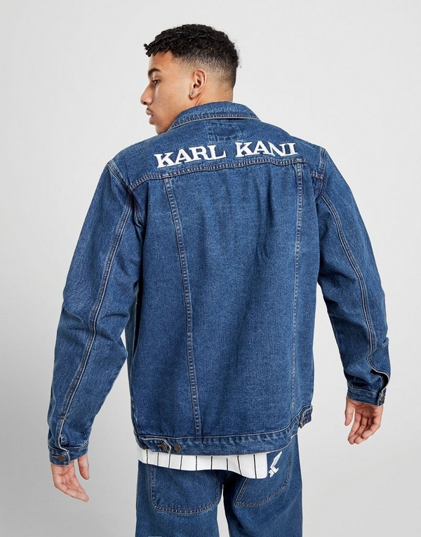Køb Karl Kani Denim Shirt Jakke Herre i Blå | JD Sports