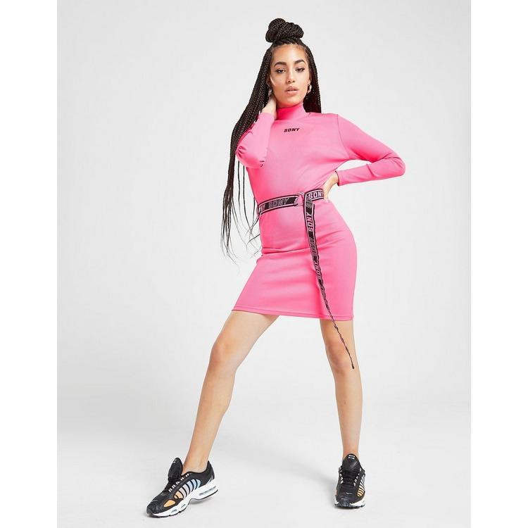 Supply & Demand Belted Rib Dress